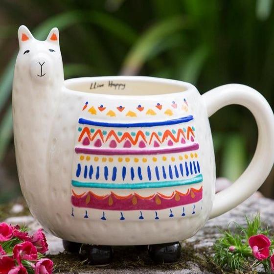 Natural Life: Folk Mug - Llama