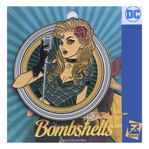 DC Bombshells - Black Canary Badge Pin