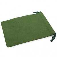 Suede Cloth Dice Bag (Large, Green)