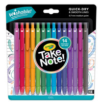Crayola: Take Note - Washable Gel Pens (14pc)