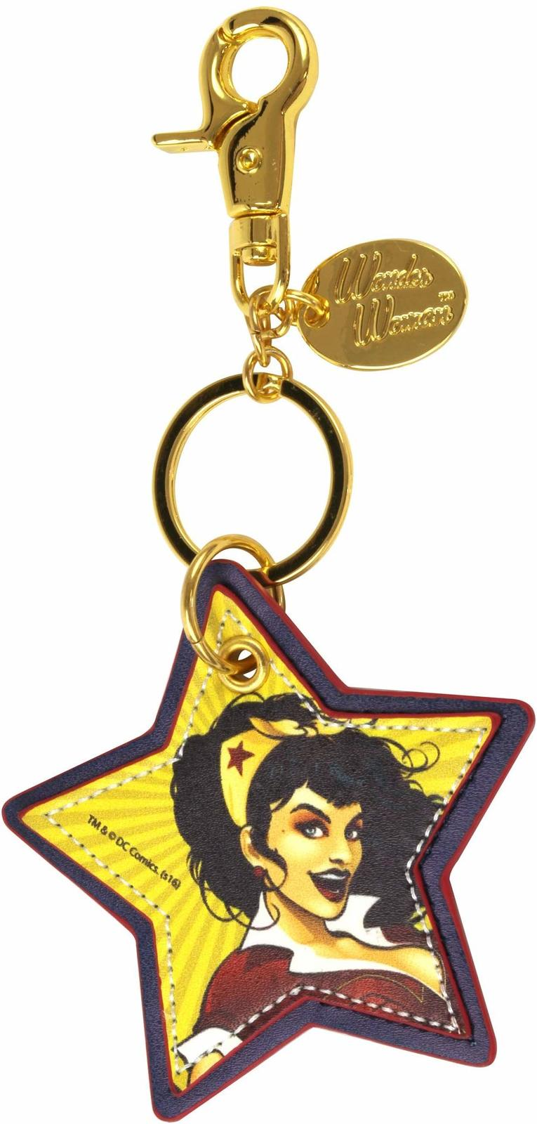 Wonder Woman: Faux Leather Keychain image