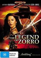 The Legend Of Zorro on DVD