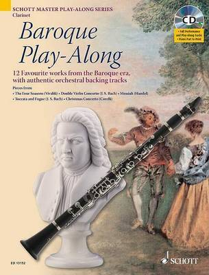 Baroque Play-along for Clarinet: 12 Favourite Works from the Baroque Era, with Authentic Orchestral Backing Tracks by Max Charles Davies image