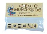 Munchkin: Bag o' D6 - Cream