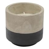Concrete Citronella Candle - Black (Large)