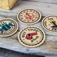 Scott and Lawson Cork Coasters
