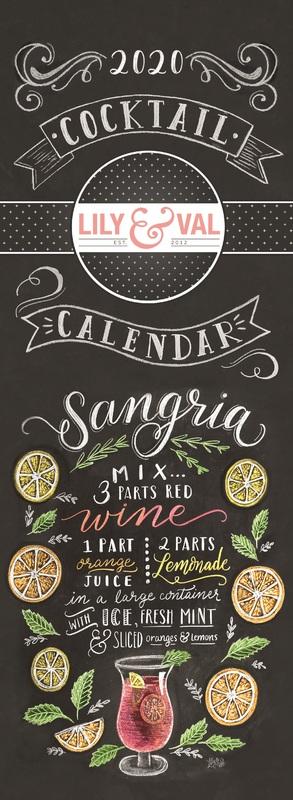 Portico: Lily & Val 2020 Slim Calendar
