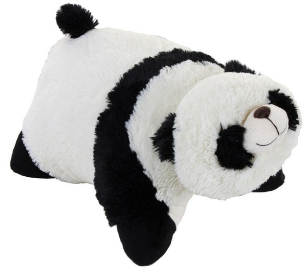 Pillow Pets Jumbo Comfy Panda Toy At Mighty Ape Australia