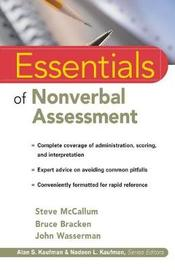 Essentials of Nonverbal Assessment by Steve McCullum image