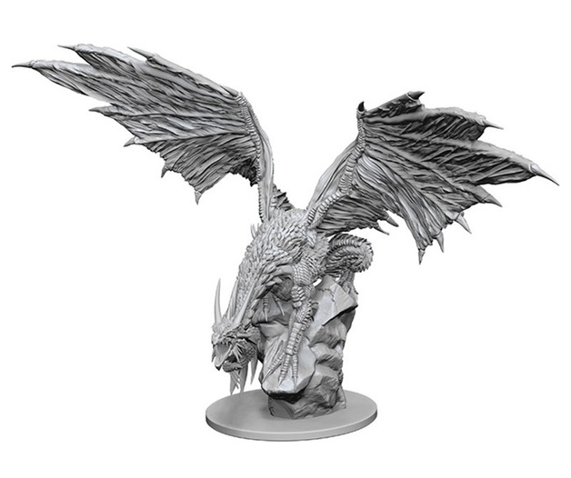 Pathfinder Deep Cuts: Unpainted Miniature - Silver Dragon