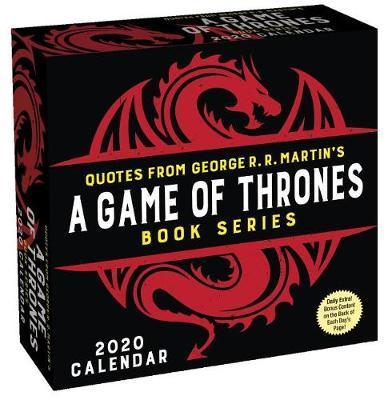 Game of Thrones Book Series 2020 Day-to-Day Calendar