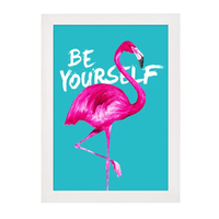 Be Yourself Flamingo Print - A4