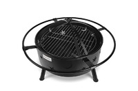 Cookmaster 2-in-1 Outdoor Steel Fire Pit Bowl BBQ Grill (81.5x63cm)