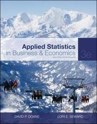 Applied Statistics in Business and Economics by David P Doane image