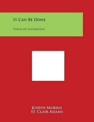 It Can Be Done by Joseph Morris image