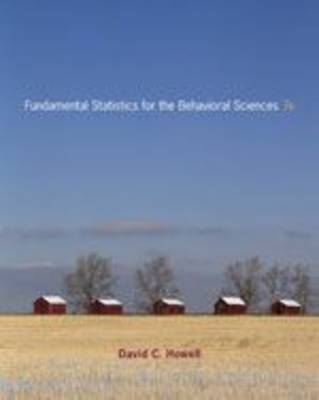 Fundamental Statistics for the Behavioral Sciences by David C Howell image