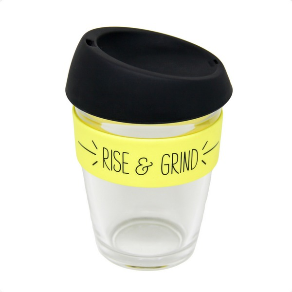 General Eclectic: Takeaway Cup - Rise & Grind (340ml) image