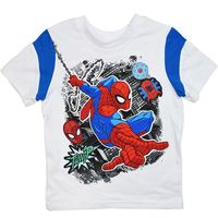 Marvel: Spiderman White Tee with Print - Size 5