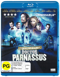The Imaginarium of Doctor Parnassus on Blu-ray