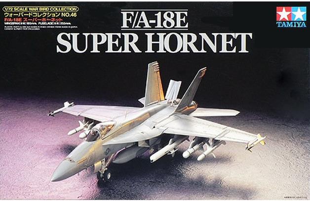 Tamiya F/A 18E Super Hornet 1/72 Aircraft Model Kit