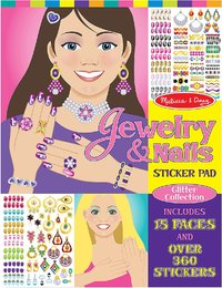 Melissa & Doug: Jewelry & Nails Sticker Pad Glitter Collection