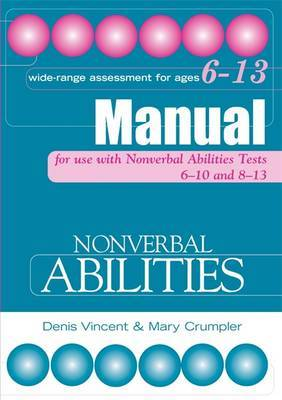 Nonverbal Abilities Tests Manual by Mary Crumpler image