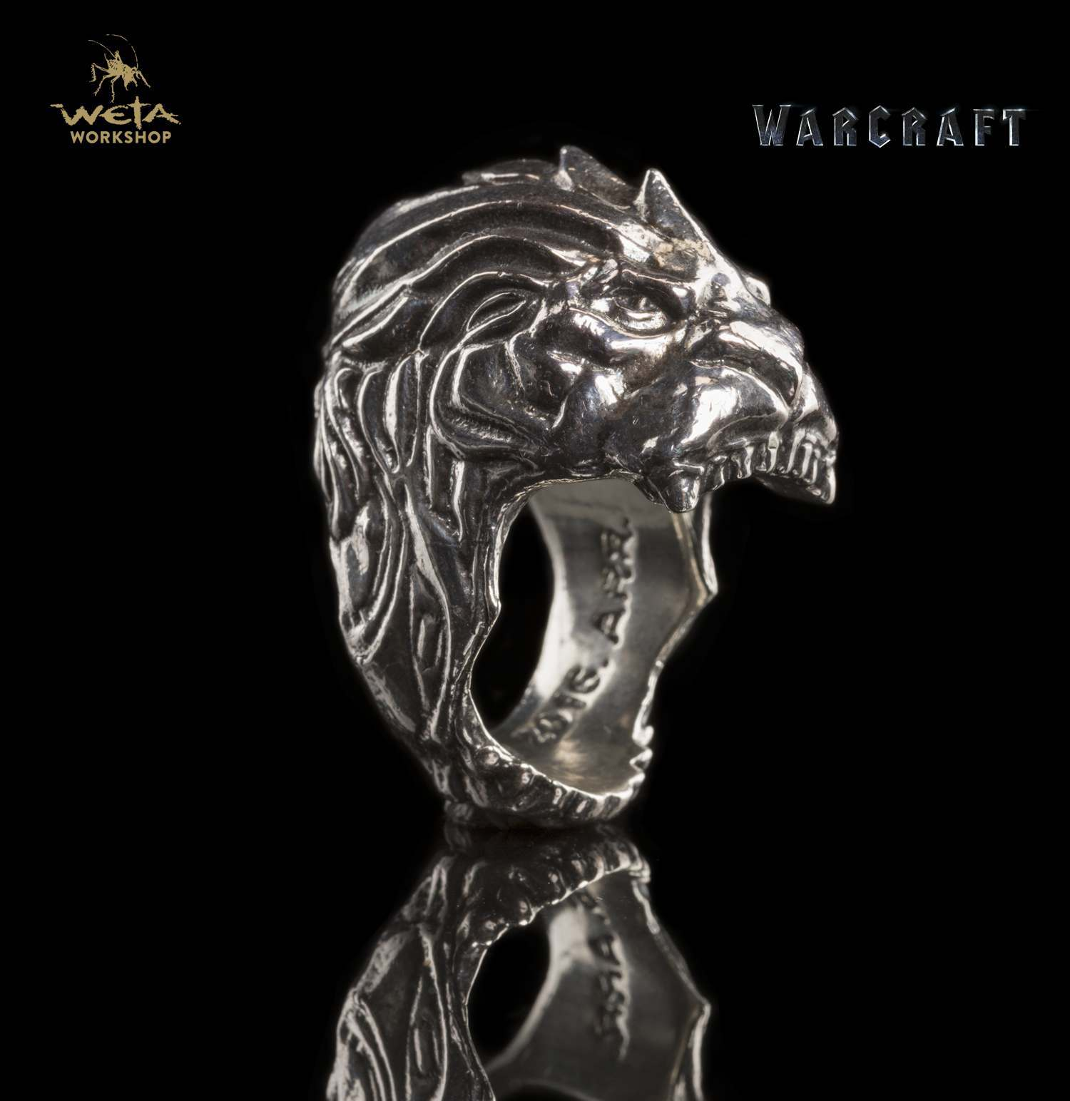 Warcraft Movie King LLane Lion Head Ring Size 8 image