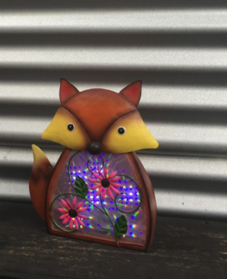 Darlin Solar LED Garden Ornament - Fox image