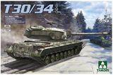 Takom 1/35 U.S. Heavy Tank T30/34 Model Kit