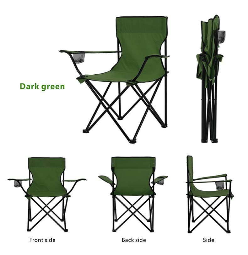 Folding Camping Chair - With Arms and Drink Holder image