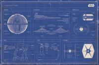 Star Wars Imperial Fleet Blueprint Wall Poster (239)