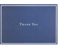 Navy Blue Thank You Notes (14 Cards/Envelopes)