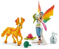 Schleich: Rainbow Elf Dunya with Foal