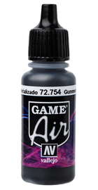 Vallejo Game Air Gunmetal Acrylic Paint (17ml)