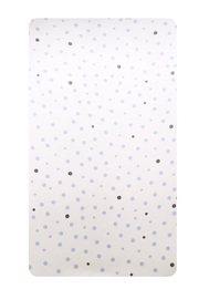 Little Baby Turtle: Cot Fitted Sheet - Pale Blue & Grey Spots