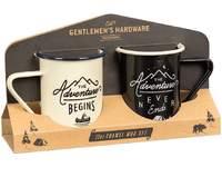 Gentlemen's Hardware Tall Enamel Mugs Set of 2
