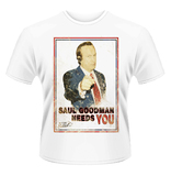 Better Call Saul 'Saul Needs You' Mens T-Shirt - White (Small)