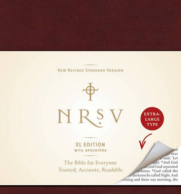 NRSV, XL Edition with the Apocrypha, Bonded Leather, Burgundy by Harper Bibles image