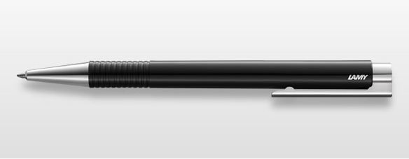 Lamy logo Plastic Ballpoint Pen - Black with Metal Clip