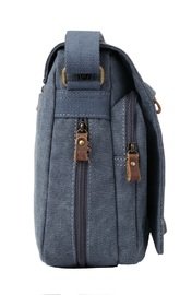 Troop London: Classic Small Flap-Front Messenger Bag - Blue image