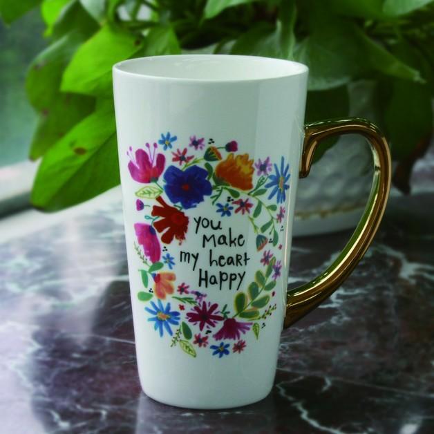 Natural Life: Latte Mug - Just Be Happy