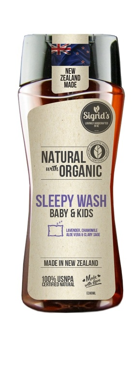 Sigrid's Natural Baby & Kids Sleepy Wash - Lavender & Chamomile (250ml)