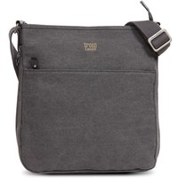 Troop London: Classic Zip Top Shoulder Bag - Black