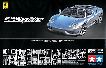 Tamiya 1/24 Ferrari 360 Spider Model Kit