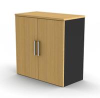 Proceed 2 Shelf Cupboard - W900mm x D450mm x H900mm