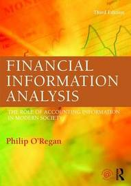 Financial Information Analysis by Philip O'Regan