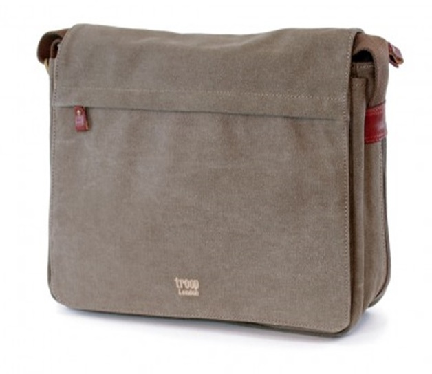Troop London: Classic Flap Front Messenger Bag - Brown