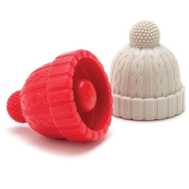 Monkey Business: Beanie Bottle Stoppers (Red & Grey)