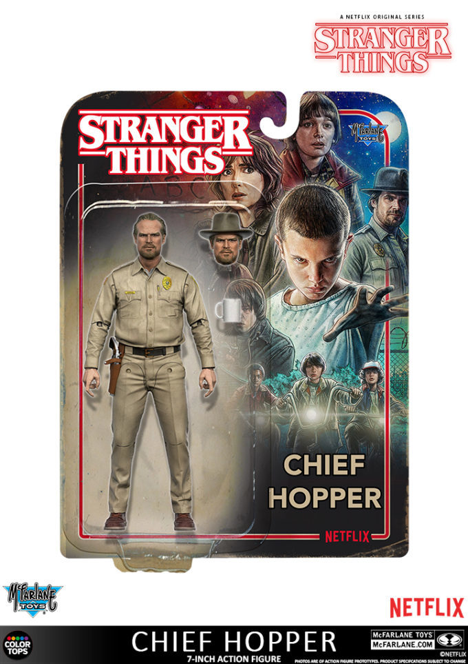"Stranger Things: 7"" Chief Hopper - Action Figure image"