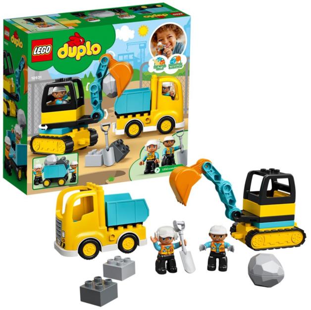 LEGO DUPLO: Truck & Tracked Excavator - (10931)